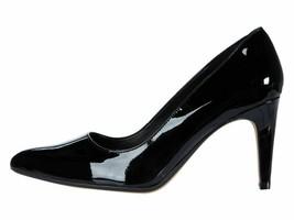Clarks Laina Rae Black Patent Leather Women's Classic Slip On Pumps 35175 - $69.00