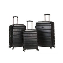 3 Piece Expandable Spinner Luggage Set ABS Lightweight Wheeled Suitcase ... - $167.69