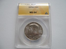 Kennedy Half Dollar , 1976-D , MS 64 , ANACS Certifiied - $20.00