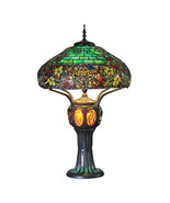 11912 Tiffany Style Hampstead Table Lamp w/Turtleback and Mosaic Base - $750.00
