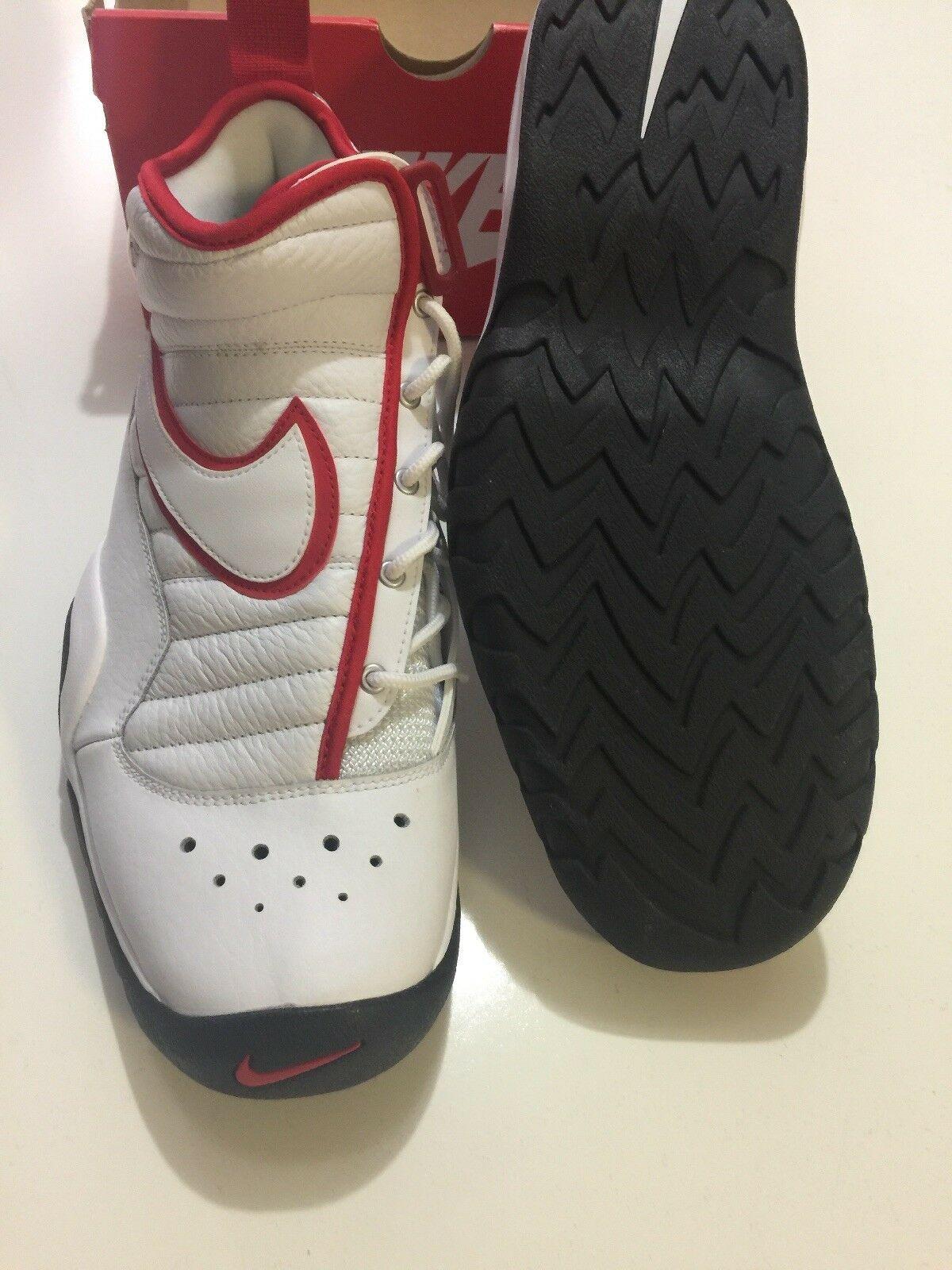 Nike Air Shake Ndestrukt Men's Basketball Shoes White/Red 880869 100 Size 11 image 3