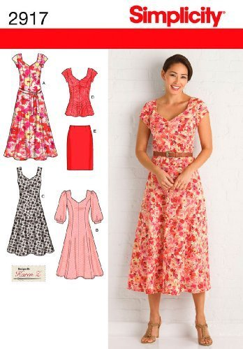 Simplicity Karen Z Pattern 2917 Women's Dress in 2 Lengths or Tunic, Skirt and T
