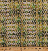 Cotton Diamonds Geometric Moroccan Lime Green Caravan Fabric Print BTY D... - $9.92