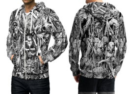 Satanic Tattoo  3D Print Hoodies Zipper   Hoodie Sweatshirt for  men - $49.80