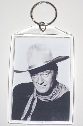John wayne black and white key chain to post