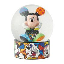 "5.12"" Disney Britto Waterball Globe w Mickey Mouse Figurine image 2"