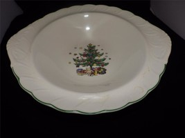 NIKKO Japan Classic Happy Holidays Christmas Tree Round Vegetable Bowl - $24.70
