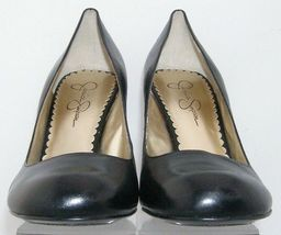 Jessica Simpson 'Henri' black leather patent round toe slip on heels 9.5B 6348 image 5