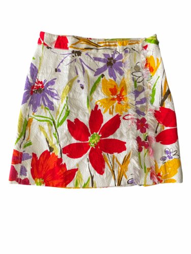 Dolce & Gabbana Charcoal Women Skirt Made in Italy White Red Yellow Orange Small