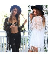 New Arrival Women Sexy See Through Lace Cardigan Shirt Casual Long Sleev... - $34.00