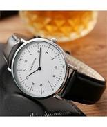 Men Ultra-thin Wrist Watches Luxury Quartz Leather Minimalist Top Man Wa... - $25.70