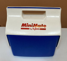 Igloo Cooler Mini Mate Lunchbox Blue, White, Push Button Open - $14.11