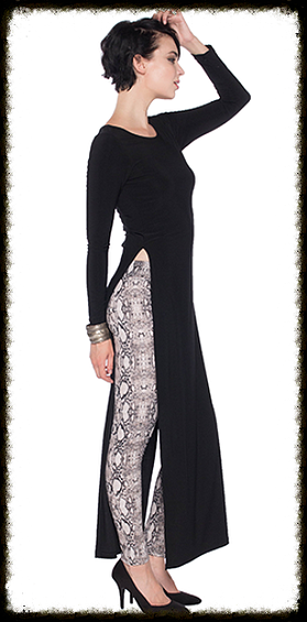Last Tango Long Sleeve Maxi Dress w/ High Slits - NOW 30% OFF Original Price!