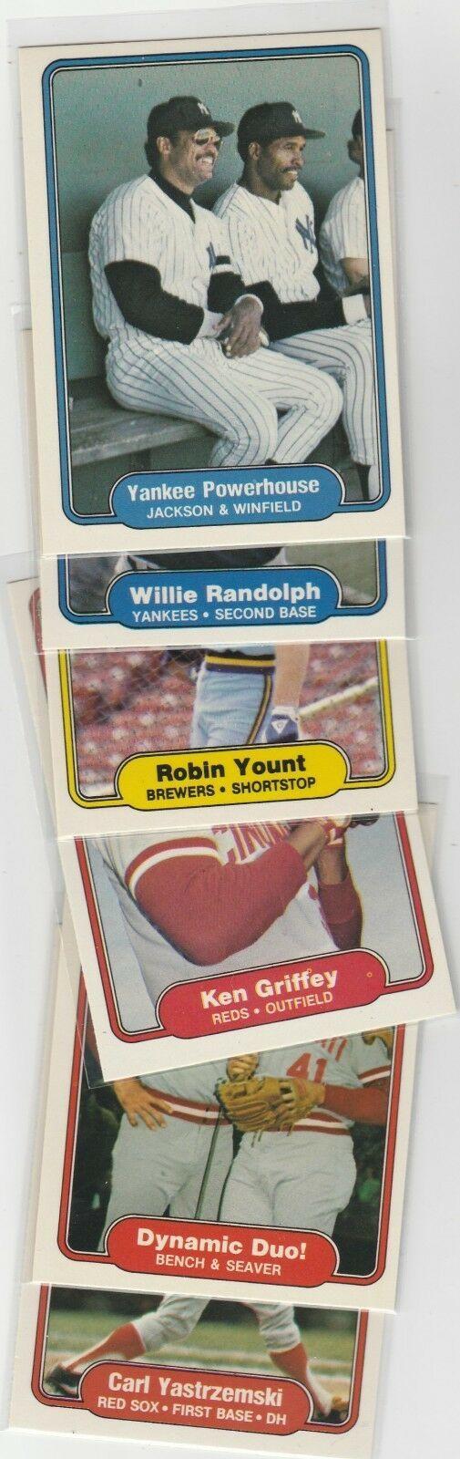 1981 1982 Fleer Lot Of 18 Good Players Yasrtzemski Yount Griffey Winfield