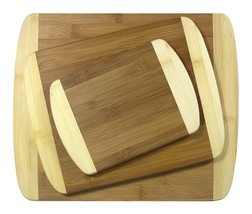 Natural Bamboo Chopping Boards Cutting Board 3 Piece Set Butcher Kitchen... - $48.26