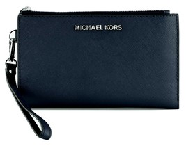 Michael Kors Sapphire Blue Bifold Wallet Purse Saffiano Leather Medium R... - £110.41 GBP