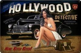 Hollywood Detective Pin Up Metal Sign Greg Hildebrandt - $29.95