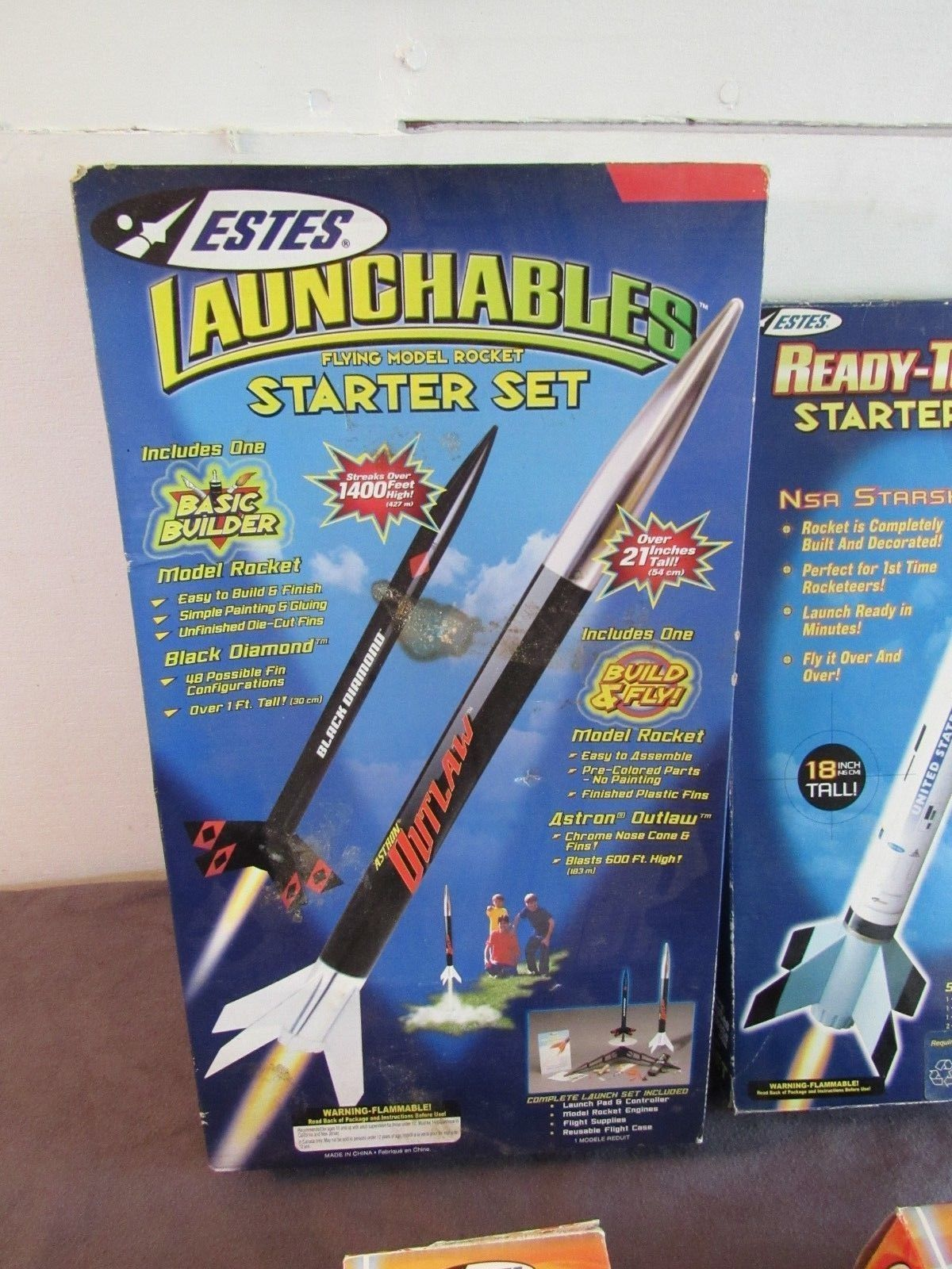 Estes Lot Flying Model Rocket Kits Unused and 16 similar items