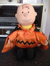 Gemmy Peanuts Vampire Charlie Brown Halloween Animated Musical Doll Rare... - $24.99