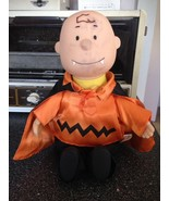 Gemmy Peanuts Vampire Charlie Brown Halloween Animated Musical Doll Rare... - $24.99