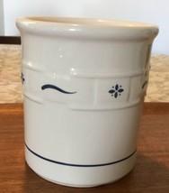 LONGABERGER Pottery Blue Woven Traditions Utensil Crock  - $46.54