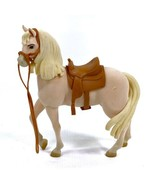 Just Play Dreamworks SPIRIT RIDING FREE Flocked Tan Horse with Saddle Chica - $9.79