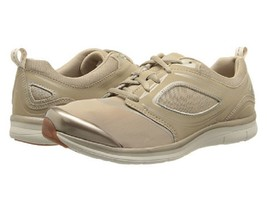 NEW EASY SPIRIT BEIGE FABRIC WALKING SNEAKERS SIZE 8 M $79 - $34.99