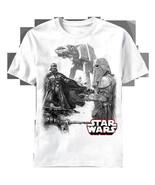 Star Wars StormTroopers Snow Scouts, Darth Vader and AT-AT T-Shirt NEW U... - $17.41
