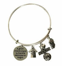 Soccer Coach Bangle Bracelet Gifts Great Coach is Hard to Find I Love So... - $15.00