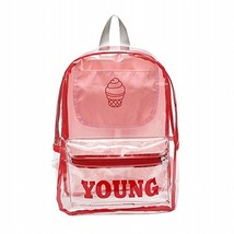 Pink Clear Backpack Perfect For School, Security, Sporting Events Outdoo... - $32.06