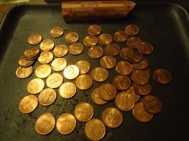 1994-P Roll Of Lincoln Mostly Red Circs Cents >> Combined Shipping - $4.39