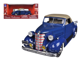 1938 Chevrolet Master Convertible Blue 1/32 Diecast Model Car by New Ray - $29.08