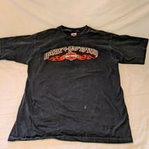 Harley Davidson Motorcycles  T-Shirt  Barnett El Paso Texas Black  X-lar... - $14.85
