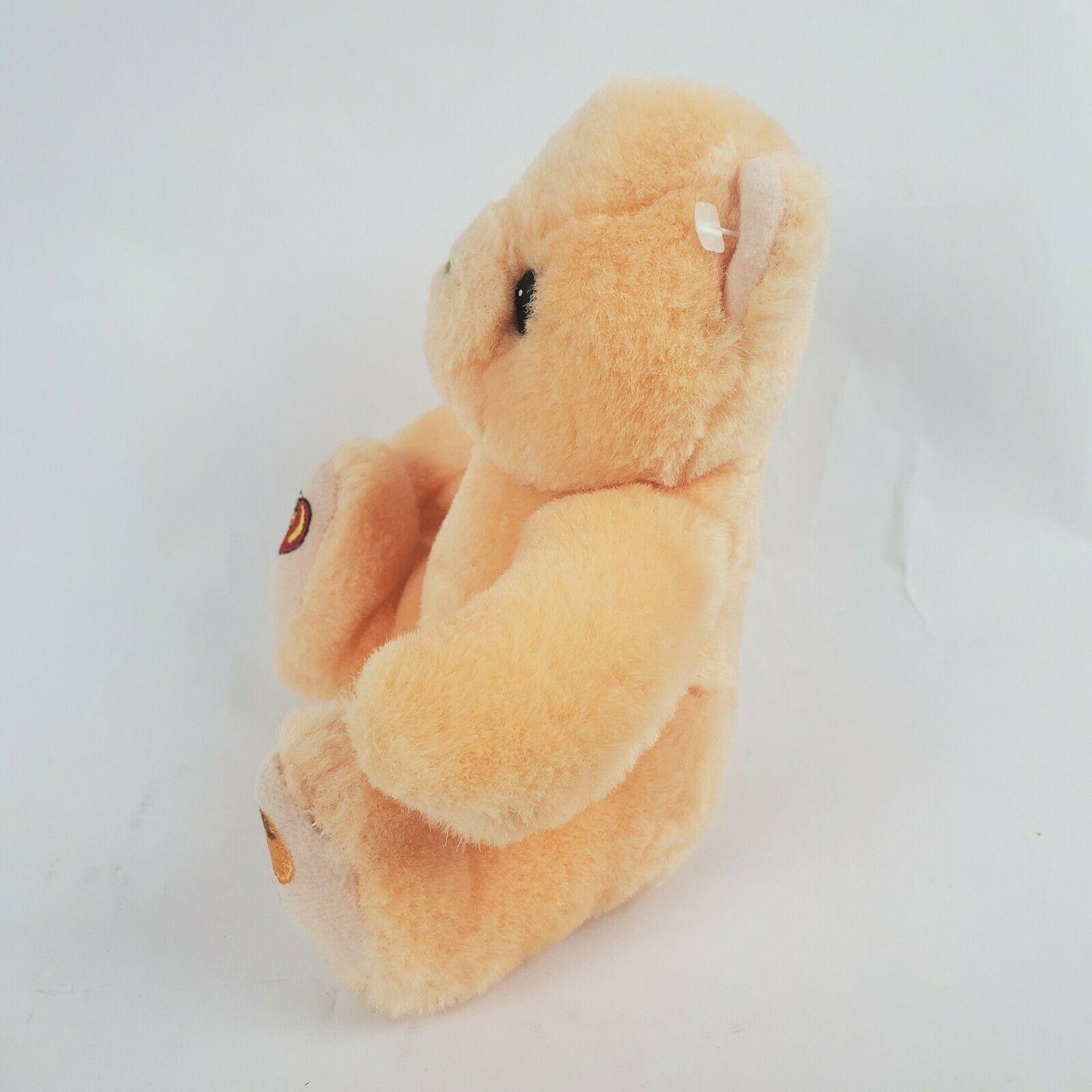 "Jelly Belly Orange Bear 6"" Plush Teddy Stuffed Animal Hermen Goelitz Enesco image 3"
