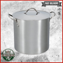 Stock Pot 12 Qt With Lid Handles Healthy Cooking Durable Stainless Steel... - $33.85