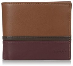 Tommy Hilfiger Men's Nelson Double Billfold, Saddle/Chocolate/Oxblood, One Size