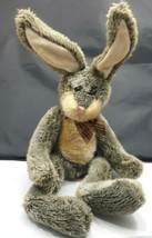VINTAGE Hamilton Bunny Rabbit Russ Berrie Plush Stuffed Animal Tartan Bow Easter - $24.45
