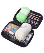 22pcs Multi colour Crochet Hooks Yarn Knitting Needles Set Kit with Case - £17.71 GBP