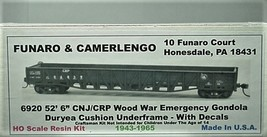 Funaro HO CNJ/CRP Wood War Emergency  Gondola Kit 6920 image 1