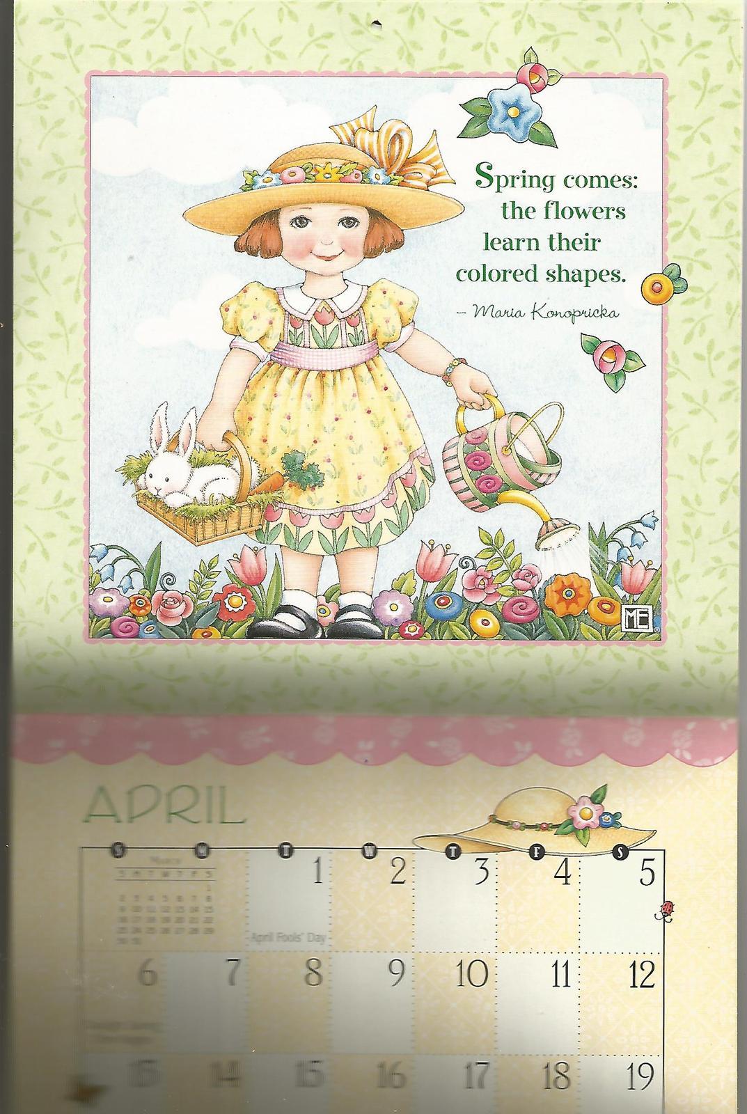 "2003 Mary Engelbreit's Bloom Where You're Planted 7""x7"" Calendar"