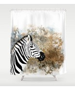 Shower curtains art shower curtain Zebra animal... - $69.99