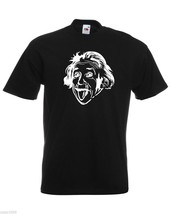 Albert Einstein Sticking Out His Tongue T-Shirt, Mens Funny Sciencist Shirt - $24.74