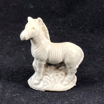 "Vintage WADE ENGLAND Tea Rose Zebra Gray Mini Porcelain Figurine 1.5"" Tall - $5.00"