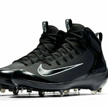 Men's Nike Alpha 923428-001 Huarache Elite Metal Mid Baseball Cleats Siz... - $48.96
