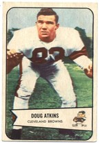 1954 Bowman #4 Doug Atkins Browns EX Excellent (RC - Rookie Card)  - $25.00