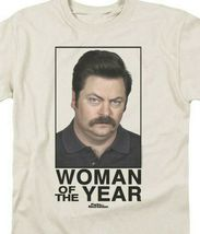 Woman of the Year Comedy T-shirt Parks and Recreation graphic tee NBC117 image 3