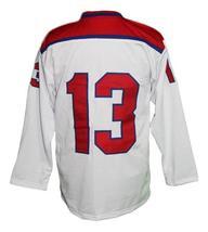 Any Name Number Korea Retro Hockey Jersey New White Any Size image 2