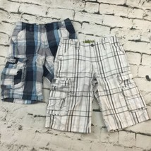 Lee Dungarees Cargo Shorts Boys Sz 12 Plaid Lot Of 2 Pairs - $19.79
