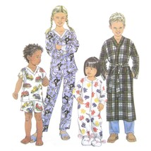 Simplicity Sewing Pattern 9853 Children's Unisex Sleeper Pajamas Robe 3 ... - $6.95