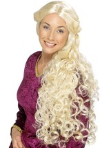 Very Long Blonde Curly Wig, Guinevere Wig, Renaissance Wig, Fancy Dress - £13.57 GBP